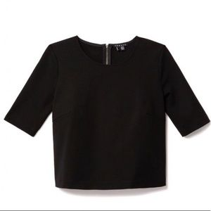 THEORY ZIP SHELL TOP